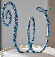 l cake topper 5 beautiful monogram wedding cake toppers paperblog
