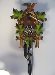 Cuckoo Clock Kit Vintage German Black Forest Cuckoo Clock Hand Carved Wooden