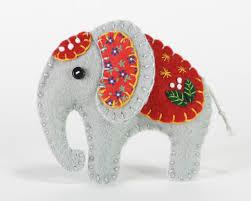 felt elephant ornament handmade elephant christmas ornament