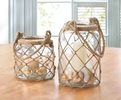 Fish Home Decor Accents Wholesale Large Clear Glass Mason Jar Candle Lantern Wrapped In