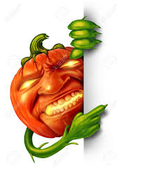 scary halloween signs halloween character sign as a pumpkin with human expression and
