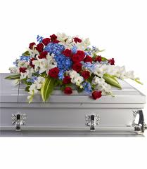 casket flowers distinguished service casket spray by teleflora t240 3a in