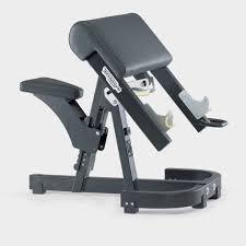 pure strength scott bicep u0026 barbell curl bench technogym