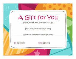 homemade gift vouchers templates birthday gift certificate
