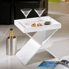 serving tray side table moscow side table and serving tray in white 27105 furniture