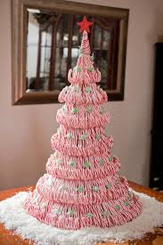 diy tutorial candycane tree centerpiece excellent instructions