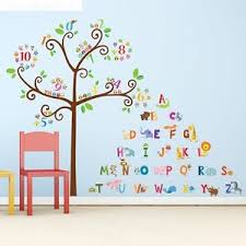 Wall Decal Letters For Nursery Alphabet Tree Wall Decals Letters Animals Nursery Playroom Room