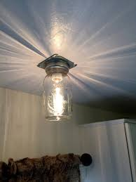 industrial mason jar flush ceiling light rustic lighting