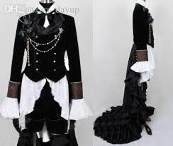 Black Butler Halloween Costumes Wholesale Black Butler Ciel Phantomhive Black Suit Custom