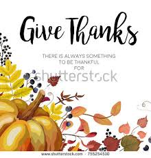 happy thanksgiving vector floral watercolor style stock vector