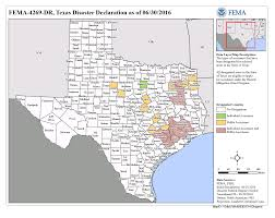Texas Map Picture Texas Severe Storms And Flooding Dr 4269 Fema Gov