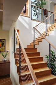 Contemporary Stair Rails And Banisters Modern Stair Railing Staircase Contemporary With Modern Stairs