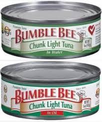 bumble bee chunk light tuna bumble bee tuna recall bumble bee recalls tuna products due to