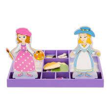 sofia u0026 princess amber wooden magnetic dress dolls