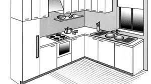 amenagement cuisine rectangulaire plan aménagement cuisine ouverte cuisine en image