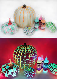 glow in the dark pumpkins ilovetocreate