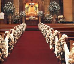 wedding flowers for church catholic church wedding ceremony with roses in nyc church