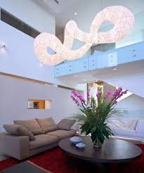Pendant Lights For Living Room Dramatic Pendant Light Effect Living Room Interior