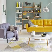 couleur canapé déco du salon en couleur gris orange bleu violet