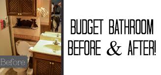 Bathroom Makeover Pictures Before And After - budget bathroom makeover before u0026 after our old house polished