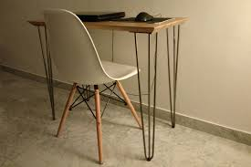 pieds de bureau design création de bureau sur mesure avec plateau en chêne massif