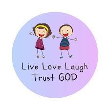 live love laugh trust god kids bible verse labels labelvalue