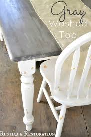 gray and white farm table my home projects inspirations