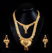 buy gold plated bridal set with earrings best prices in
