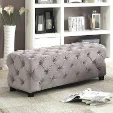 ottomans dark grey tufted ottoman bench gray storage velvet
