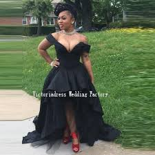 aliexpress com buy african style black high low prom dresses