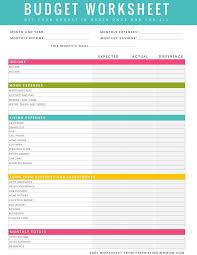 free printable household budget worksheet aiyin template source
