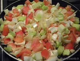 cuisiner poireaux poele fondue de poireaux aux tomates les légumes cuisinés