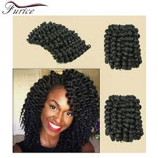 model model crochet hair hot sell wand curl 8inch crochet braid hair synthetic crochet