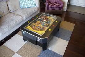 custom made coffee tables stephen jornov s custom made pinball coffee table home crux