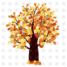 autumn oak tree vector image 110712 u2013 rfclipart
