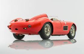 maserati red maserati 300s handmade by cmc model cars racing heroes