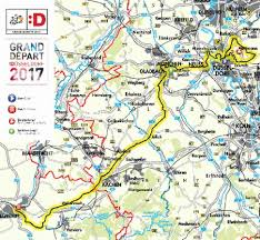 Map Of Germany And France by Tour De France In Rhineland And The Rhine Ruhr Region Of Germany