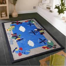 Area Rug For Kids Room by Furniture Chic Kids Bedroom Area Rug With Air Plane Designs Stain