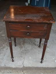 Distressed Table Yellow Distressed Side Table Hometalk