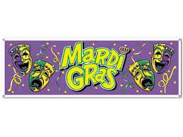 jumbo mardi gras mardi gras plastic jumbo sign banner 63 x 21 card party