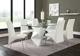Dining Room Sets 4 Chairs Leonardo Furniture Rockville Center Ny White White Dining