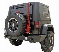 jeep rear bumper with tire carrier rampage recovery rear bumpers fast u0026 free shipping