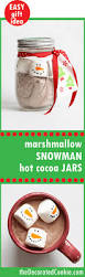 marshmallow snowman cocoa jars great homemade gift idea