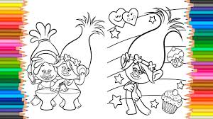 coloring pages dreamworks trolls coloring book videos for children