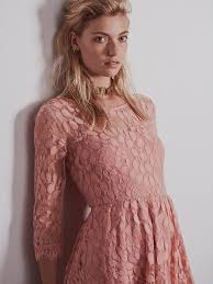 free people floral mesh lace dress in pink lyst