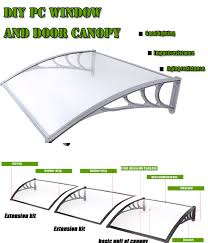 Glass Awnings For Doors Polycarbonate Window Awning Outdoor Diy Door Rain Canopy Patio Sun