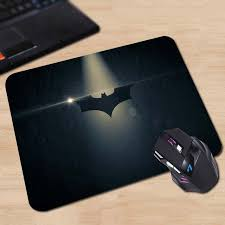 Batman Desk Accessories Comics Batman Arkham Black Logo Customized Mouse Pad