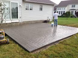 Stamped Concrete Patio Maintenance Cozy Look Stamped Concrete Patio Pattern With Colors Option