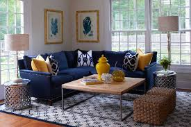 Yellow Living Room Chair Navy Blue Sectional Sofa Navy Blue Sofa Decorating Ideas Yellow