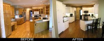 Resurfaced Kitchen Cabinets Before And After How To Reface Oak Kitchen Cabinets Nrtradiant Com